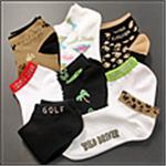 Women's No Show Mesh Footies & Novelty Socks