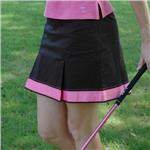 GOLFTINI Hot Pink Trimmed Black Skort