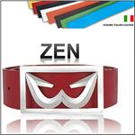 THE WHITE BALL Zen 40MM Wide WB Logo Buckle With Strap