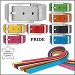 THE WHITE BALL Pride 40MM Buckle With Leather Strap