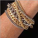 GILES & BROTHER Large Mixed Curb Chain Bracelet