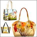 ICON Art Printed Large Handbags & Totes