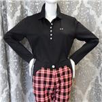 MASTERS Black Long Sleeve CoolMax Polo