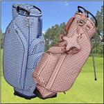 Gingham Check Wave Quilted Fabric Bags