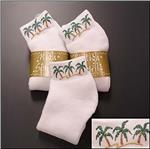 HIGH SPIRITS Hand Painted Palm Tree Socks