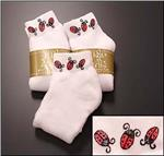HIGH SPIRITS Hand Painted Lady Bug Socks