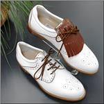 WALTER GENUIN Greta Waterproof White / White / Brandy Shoe