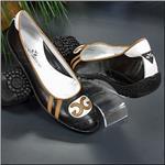 WALTER GENUIN Coco Ballerina Black/White/Brandy
