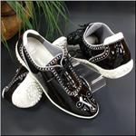 WALTER GENUIN Sabrina Waterproof Patent Black/White