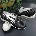 WALTER GENUIN Penny Black/White Golf and Street Shoe