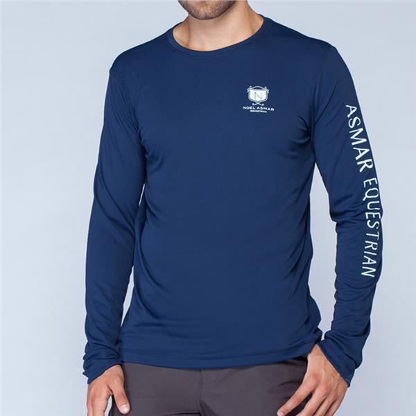 Asmar Equestrian Men S Navy Long Sleeve Tee Shirt