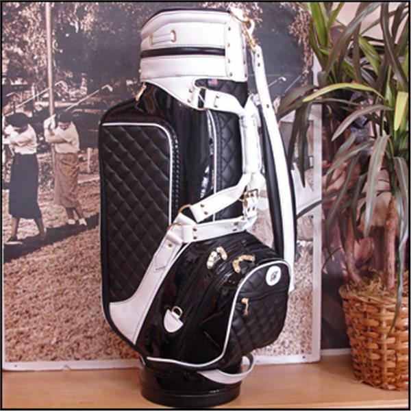 Black Diamond Quilted With White Harness Front Custom Build XL Golf Bag f4a4d8cd50aae