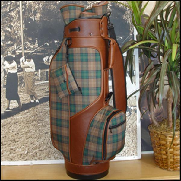 Lady Golf Classic Design Golf Bag Hunter Plaid Golf