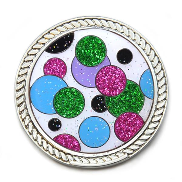 Lady Golf Polka Dot Green Pink Glitzy Magnetic Candy